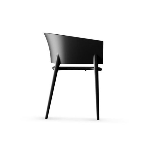 Listas de Natal.Silueta de uma cadeira preta de design