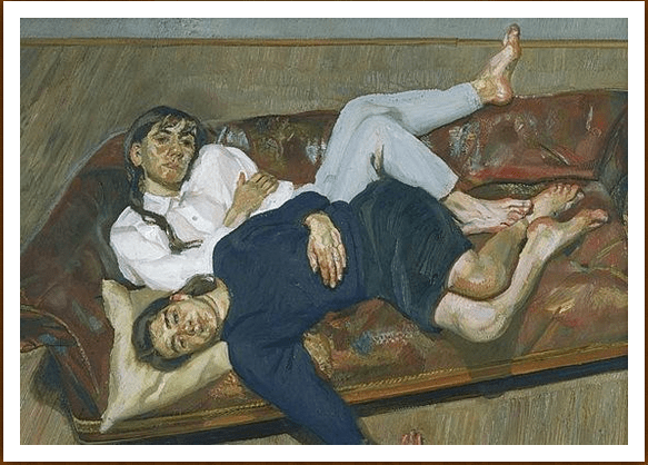"""Quadro """"Bella and Esther"""" - Lucian Freud - Oil On Canvas - 89 x 73 cm - 1988"""
