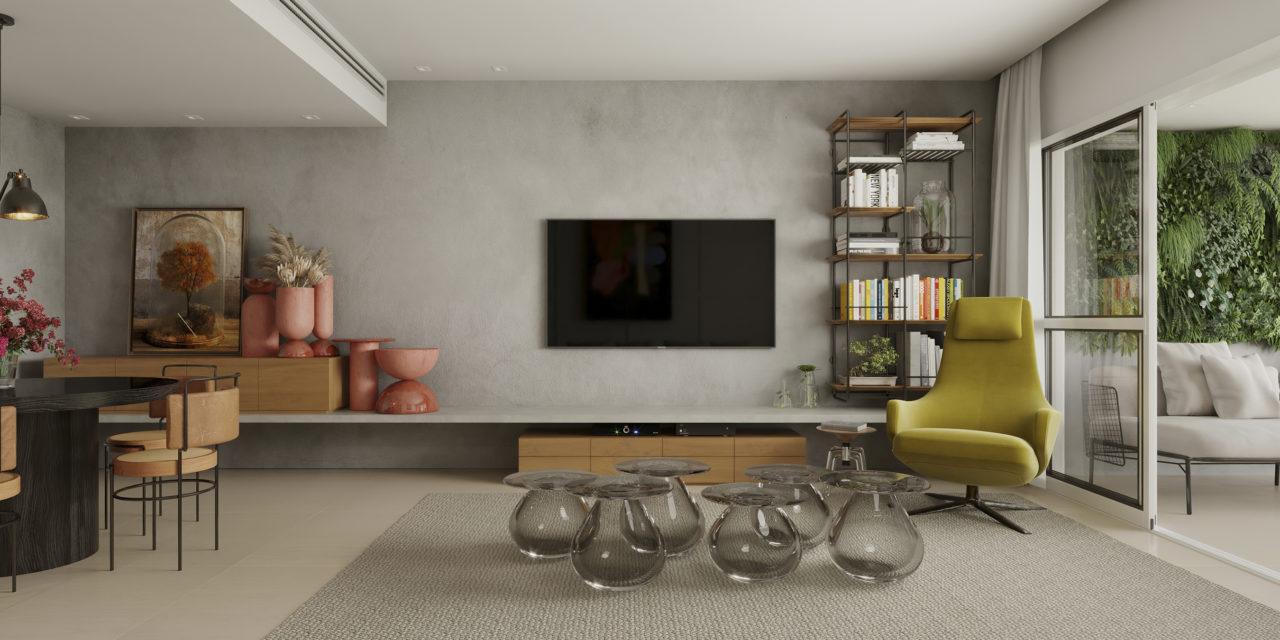 Apartamento inspirado nas estações do ano