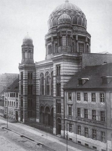 A nova Sinagoga de Berlim, construída entre 1859 e 1866.