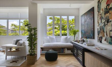 Apartamento no Leblon de 150m2 com sala e cozinha integradas