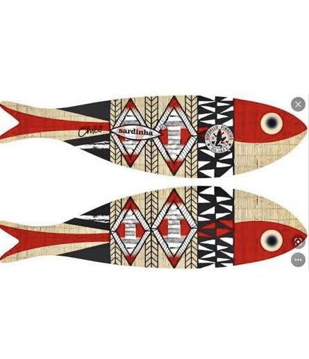 Desenho de Chicô Gouvêa para a sardinha da Bordallo Pinheiro