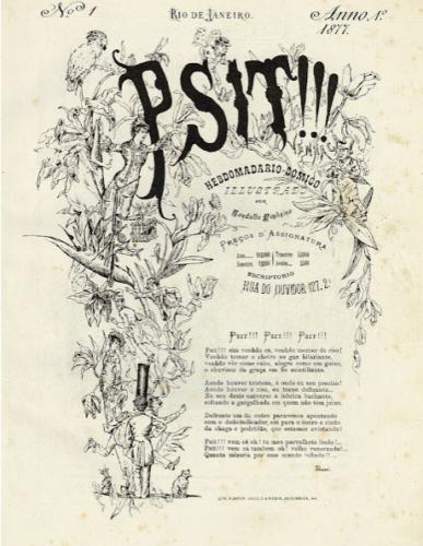 Capa da primeira publicação brasileira do Psit!!! de 15 de setembro de 1877 (col. priv.)