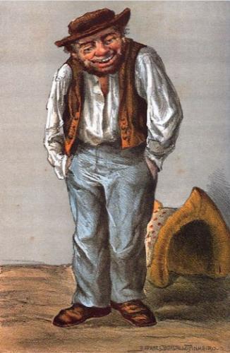 Ilustração da figura do Zé Povinho de Rafael Bordallo Pinheiro