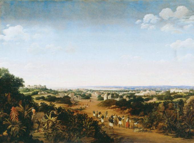 tela de Frans Post, Vista de Olinda (Séc. XVII. c. 1650).