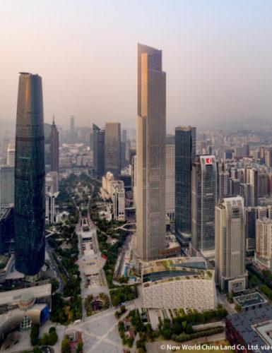 Em sétimo lugar, o Guangzhu CTF Fianance Center em Cantão, na China.
