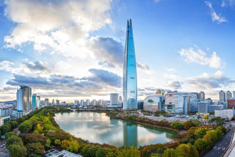 Em quinto lugar, Lotte World Center, em Seul na Coréia do Sul.