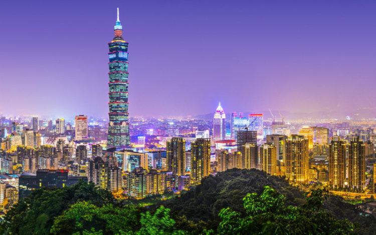 Em décimo lugar, o Taipei 101, em Taiwan.