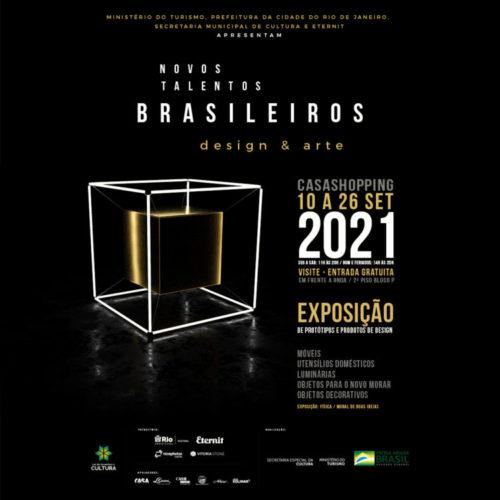 Banner da Exposição novos talentos Brasileiros